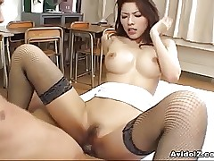 Hot Japanese pamper Riko..