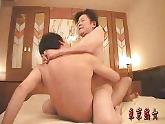 Japanese granny enjoying sexual..