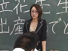 Lactating Japanese instructor..