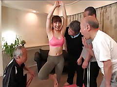 Yoga Trainer Gangbang Be..