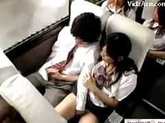 Asian Schoolgirl Hot Handjob..