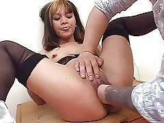 Asian Tattooed Pussy Fisted - SNC