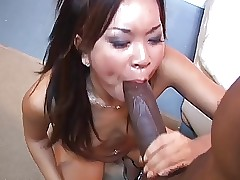Asian strumpet making out..