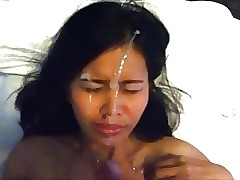 Asian sweeping facial