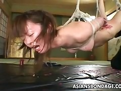 Asian whore goes scan a roug..
