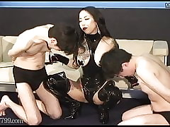 Japanese slaves gets pulled her..