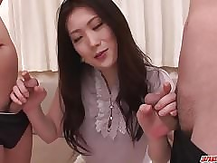 Zenith rated trio Asian blowjob..