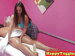 Asian masseuse paroxysmal added..