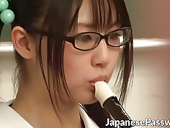 Cute Japanese schoolgirl loves..