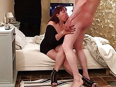 Full-grown Asian BlowJob - CFNM