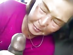 Asian Granny Sucks Clouded..