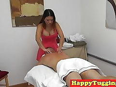 Asian spycam masseuse wanking..